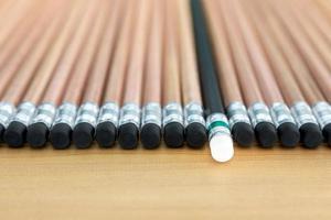 een potlood uitgekozen