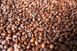 close-up van koffiebonen
