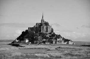 abdij mont saint-michel in frankrijk foto