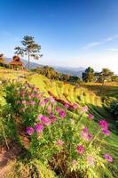 prachtige zonsopgang bij gezichtspunt van huay nam dung