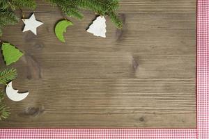 plat leggen van vilt kerstdecor foto