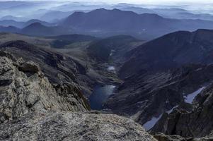 uitzicht vanaf de top van Longs Peak