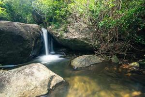 natuurlijk landschap bij de khlong pla kang-waterval foto