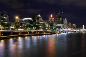 Brisbane rivier nachtscène
