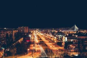 nieuwe Belgrado 's nachts foto
