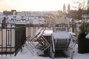 oude binnenstad van wiesbaden in de winter