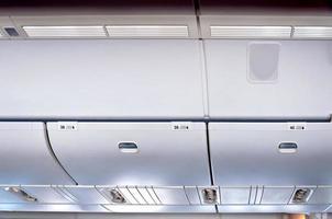 interieur van commerciële vliegtuigen foto