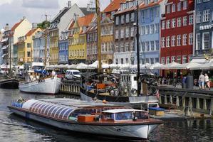 boten in Nyhavn, Kopenhagen