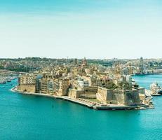 panoramisch zicht op Valletta