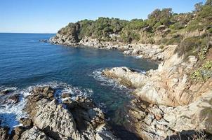 uitzicht in lloret de mar. weg van ronda, catalonië, spanje