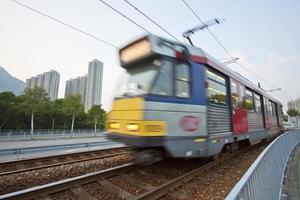 rijdende trein in hong kong