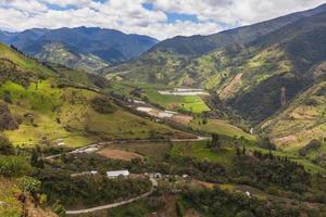 Andes dorp, Zuid-Amerika foto