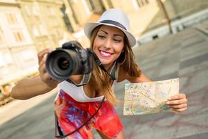 mooie vrouw toerist
