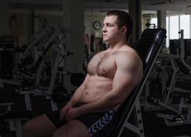 atleet in de sportschool