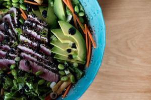 aangebraden tonijnsalade