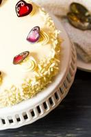 witte chocolade cheesecake foto