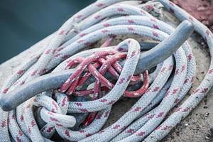 touwen op klamp