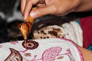 batikmotief met de hand getekend