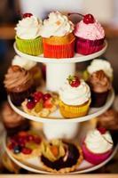 stand van cupcakes foto