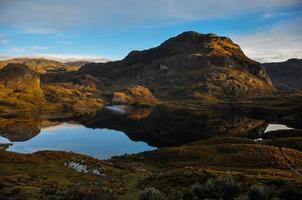 prachtig uitzicht over el cajas nationaal park, ecuador