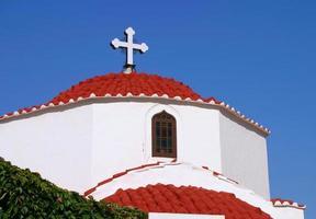 grieks-orthodoxe kerk, rhodos, griekenland. foto