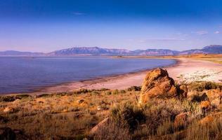 uitzicht op het grote zoutmeer