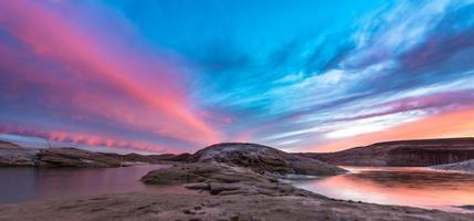 Lake Powell na zonsondergang foto