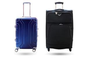 koffers geïsoleerd op een witte achtergrond foto