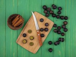 food fotografie plat leggen van fruit met kopie ruimte