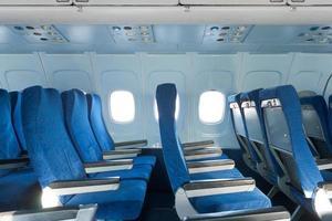stoelen in het vliegtuig foto