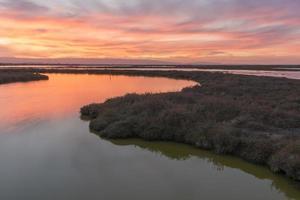 zonsondergang bij Don Edwards National Wildlife Refuge