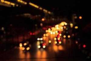 abstract wazig transport en stadslicht