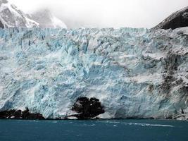 gletsjer in zuid-georgië antarctica foto