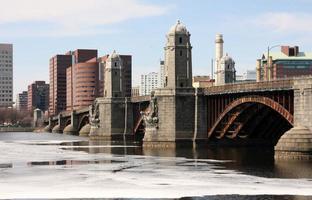 longfellow bridge, boston ma foto