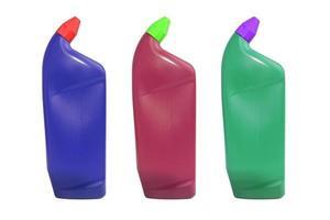 plastic fles voor vloeibare producten foto