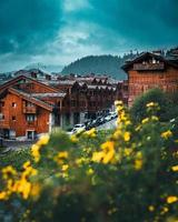 saint-bon-tarentaise, Frankrijk, 2020 - chalets van Courchevel in de Franse Alpen