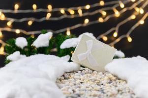vrolijk kerstfeest achtergrond met geschenkdoos