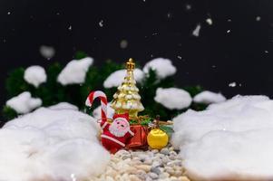 vreedzame Kerstmisachtergrond voor het adventseizoen