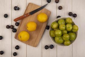 bovenaanzicht van vers fruit