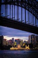 Sydney, Australië, 2020 - Uitzicht op Sydney 's nachts