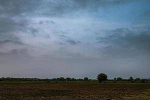 zonsondergang over een veld