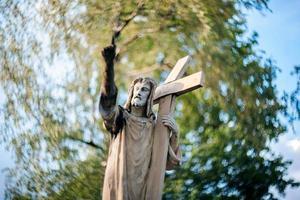 standbeeld van jezus christus
