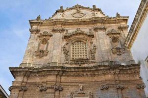 kerk van st. sebastiano. galatone. puglia. Italië. foto