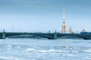 uitzicht op het fort van peter en paul. Sint Petersburg foto