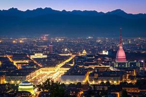 turijn (torino), panorama 's nachts