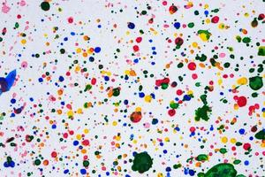 aquarel druppels op wit papier foto