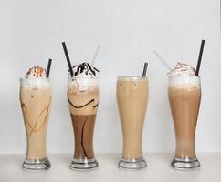 koffie en chocoladecocktails foto