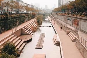 kanaal in seoel, korea foto