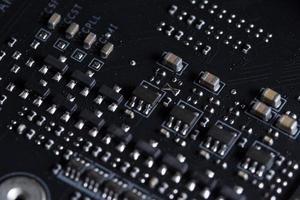 elektronische printplaat, close-up