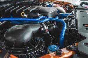 motor van een auto foto